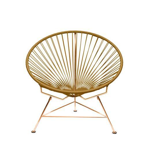 Outdoor Lounge Chair Gold Weave on Copper Frame Innit Chair on Copper Frame