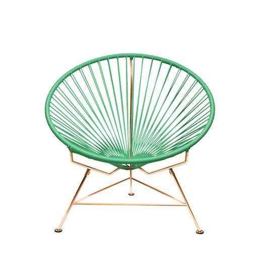 Outdoor Lounge Chair Mint Weave on Copper Frame Innit Chair on Copper Frame