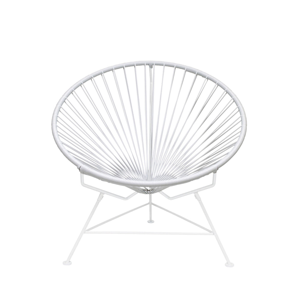 Outdoor Lounge Chair White Weave on White Frame Innit Chair on White Frame