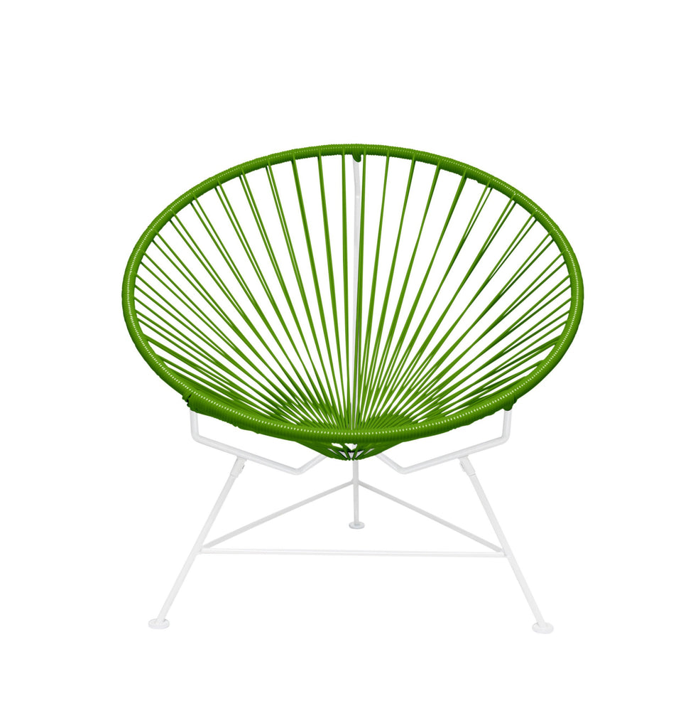 Outdoor Lounge Chair Cactus Weave on White Frame Innit Chair on White Frame