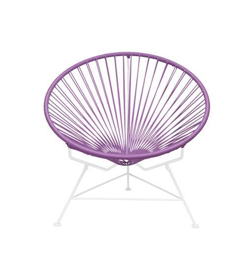 Outdoor Lounge Chair Orchid Weave on White Frame Innit Chair on White Frame