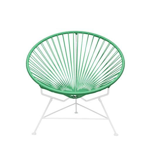 Outdoor Lounge Chair Mint Weave on White Frame Innit Chair on White Frame