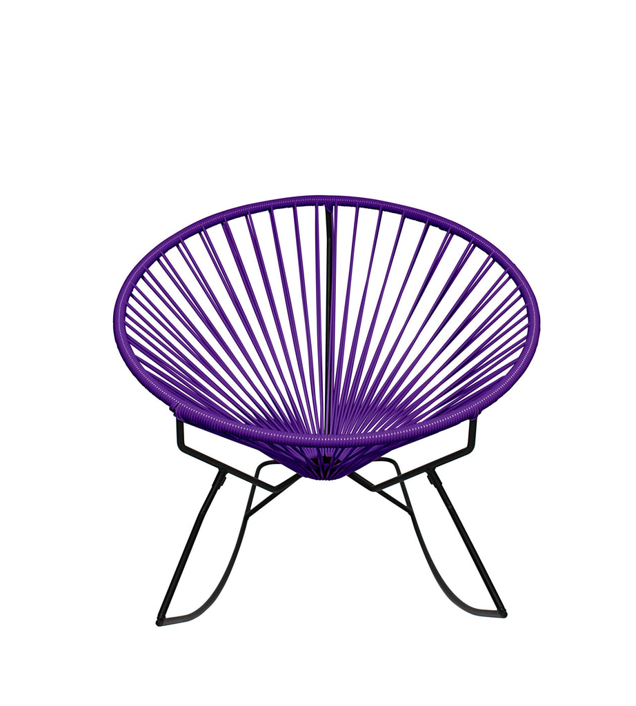 Outdoor Lounge Chair Purple Weave on Black Frame Innit Rocker on Black Frame