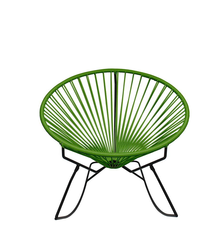 Outdoor Lounge Chair Cactus Weave on Black Frame Innit Rocker on Black Frame