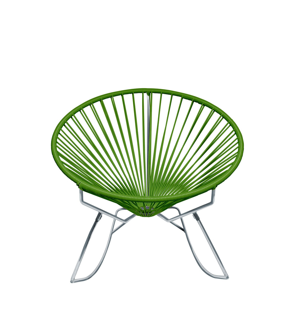 Outdoor Lounge Chair Cactus Weave on Chrome Frame Innit Rocker on Chrome Frame