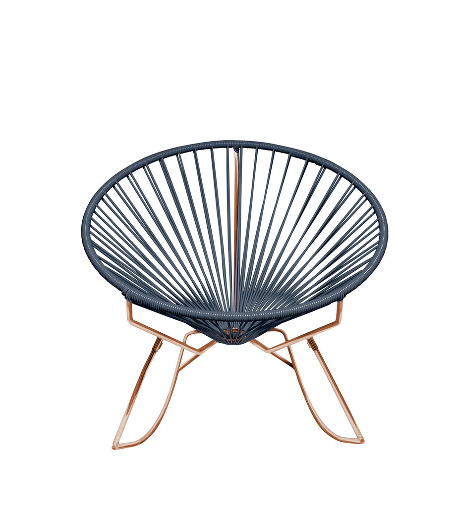 Outdoor Lounge Chair Grey Weave on Copper Frame Innit Rocker on Copper Frame
