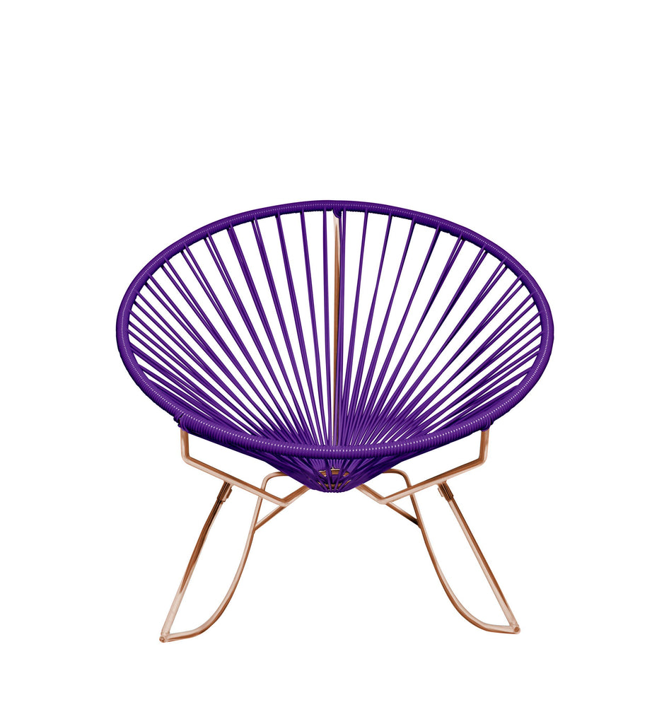 Outdoor Lounge Chair Purple Weave on Copper Frame Innit Rocker on Copper Frame