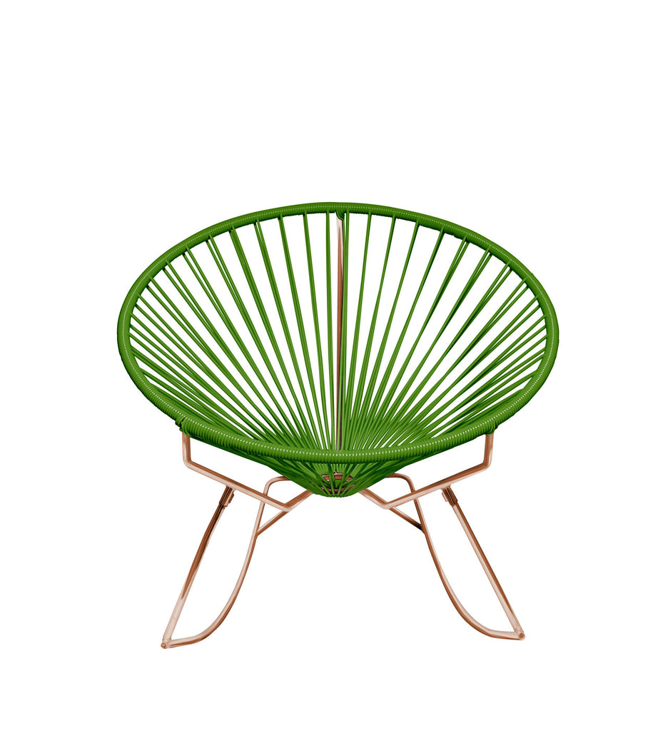 Outdoor Lounge Chair Cactus Weave on Copper Frame Innit Rocker on Copper Frame