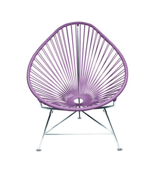 Kids Furniture Orchid Weave on Chrome Frame Junior Acapulco Chair on Chrome Frame