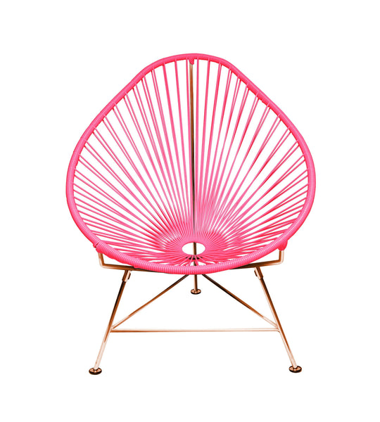 Kids Furniture pink weave on Copper Frame Junior Acapulco Chair on Copper Frame