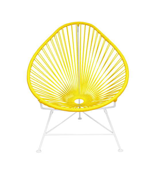Kids Furniture Yellow weave on White Frame Junior Acapulco Chair on White Frame