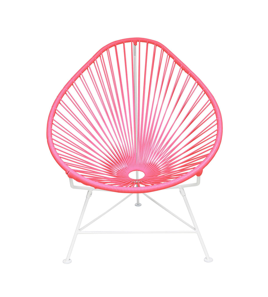 Kids Furniture Pink weave on White Frame Junior Acapulco Chair on White Frame