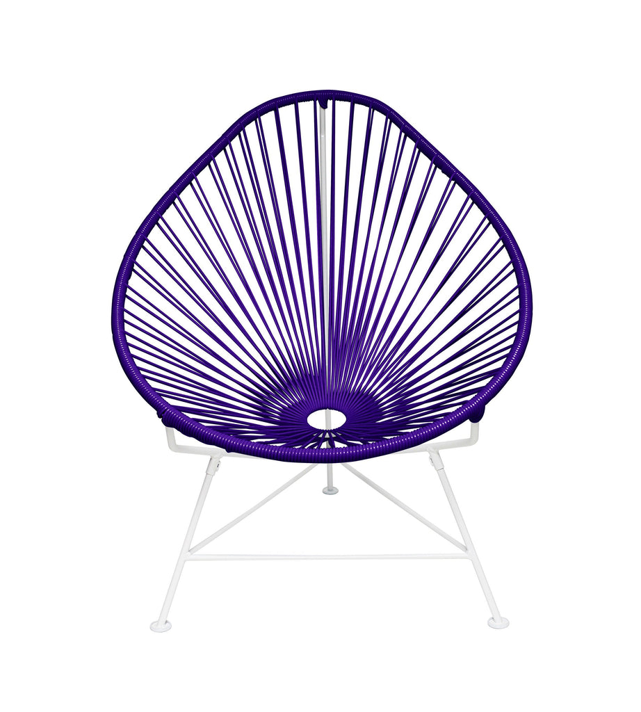 Kids Furniture Purple weave on White Frame Junior Acapulco Chair on White Frame