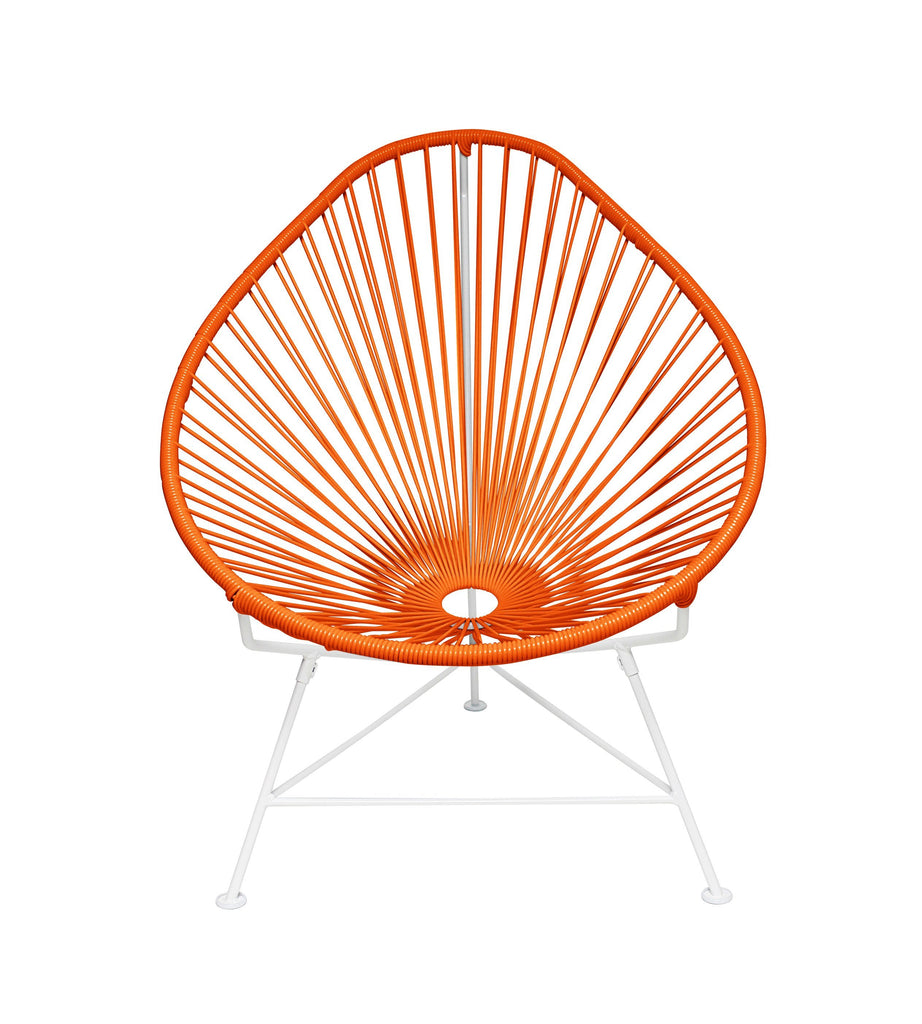 Kids Furniture orange weave on White Frame Junior Acapulco Chair on White Frame