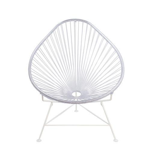 Kids Furniture lear Weave on White Frame Junior Acapulco Chair on White Frame