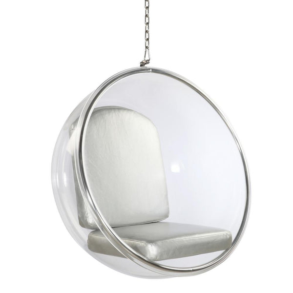 Silver Kids Bubble Chair