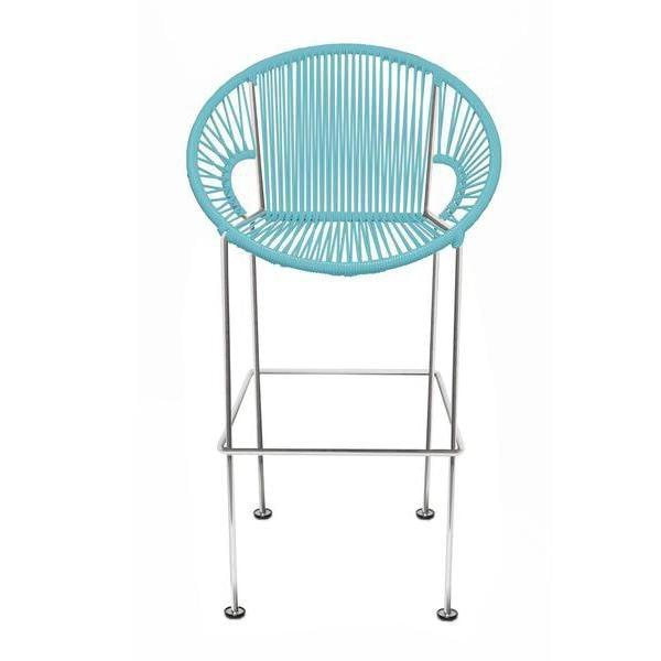 Large Puerto stool (bar height 45'') on Chrome Frame at Lifeix Design