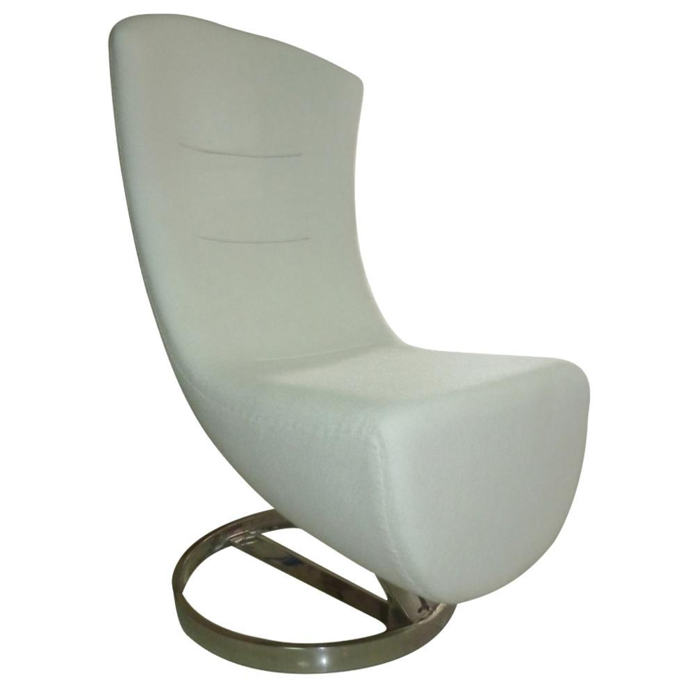 White Lay Lounge Chair