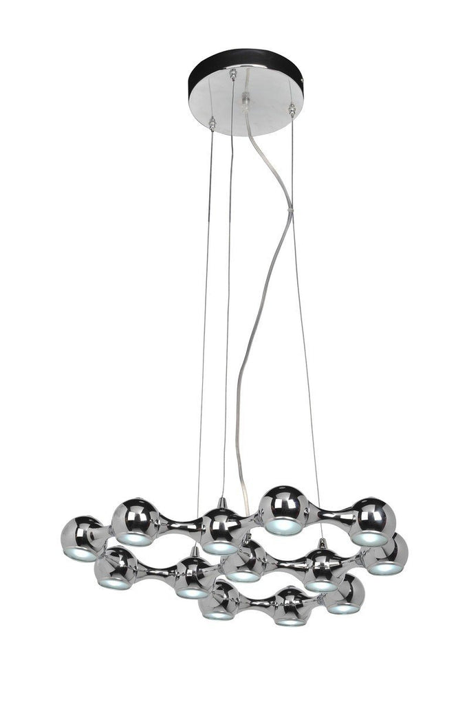 Le' Chrome Oeuf- 13 light Chandelier