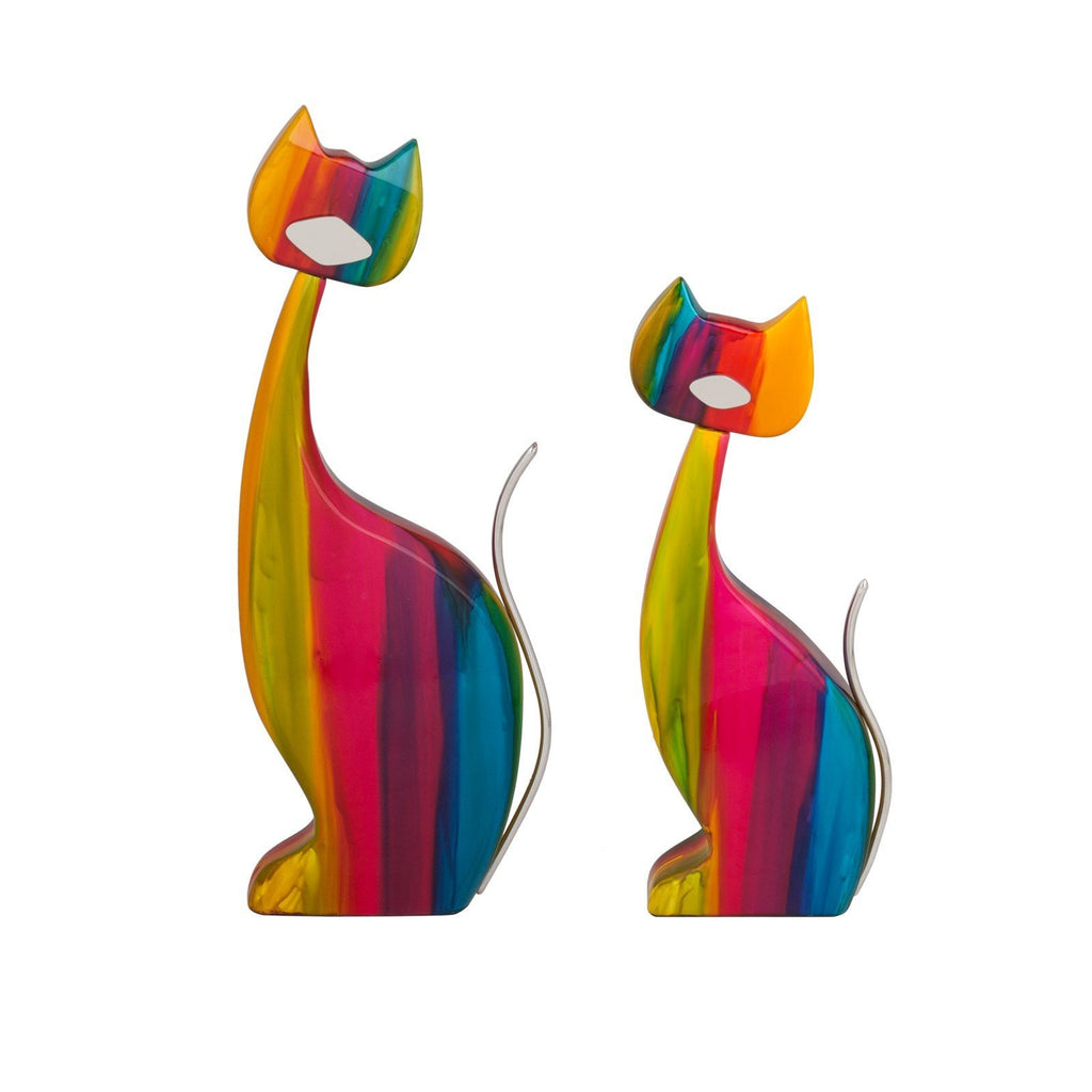Le' Color Cat- Set of two- 100% Hand Crafted Pieces