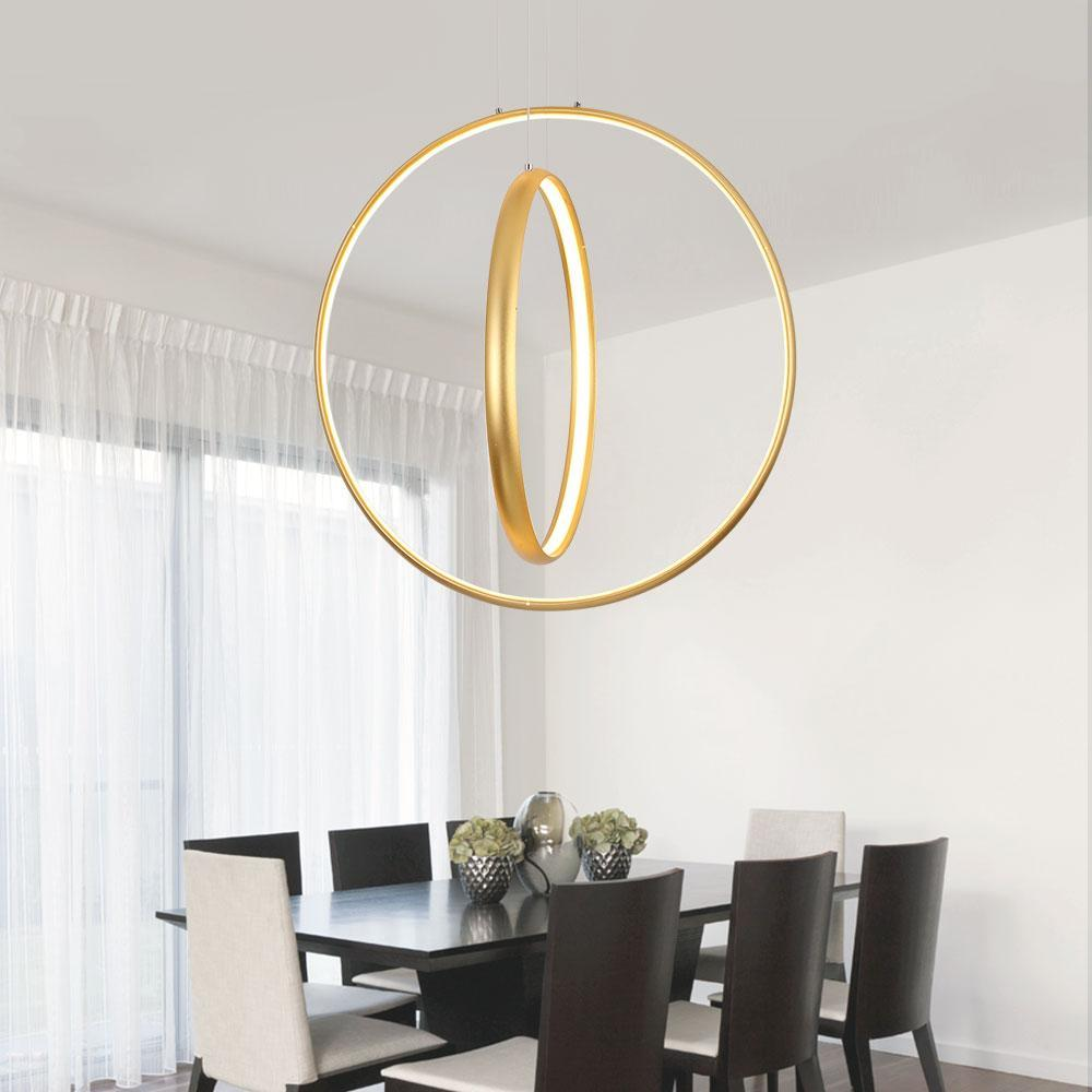 Buy led golden circles chandelier modern style chandelier at led golden circles chandelier modern style chandelier at lifeix design arubaitofo Gallery