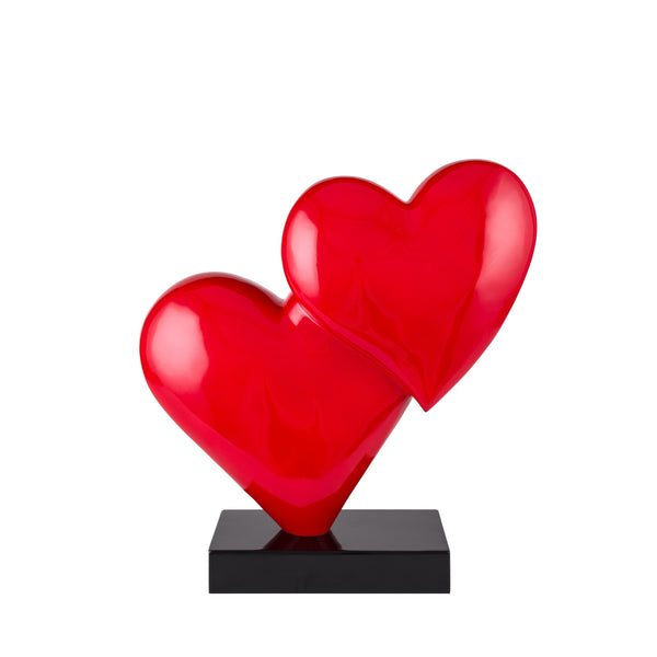 Love in the Air- Red Heart Resin Sculpture