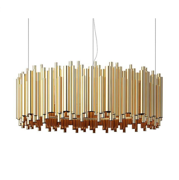 Luxurious Hotel Style Pendant Lamp - Golden Chandelier at Lifeix Design