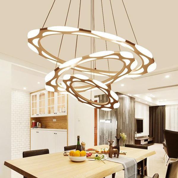 Luxurious LED Ring Modern Chandelier - Multi-Layer Pendant Light at Lifeix Design