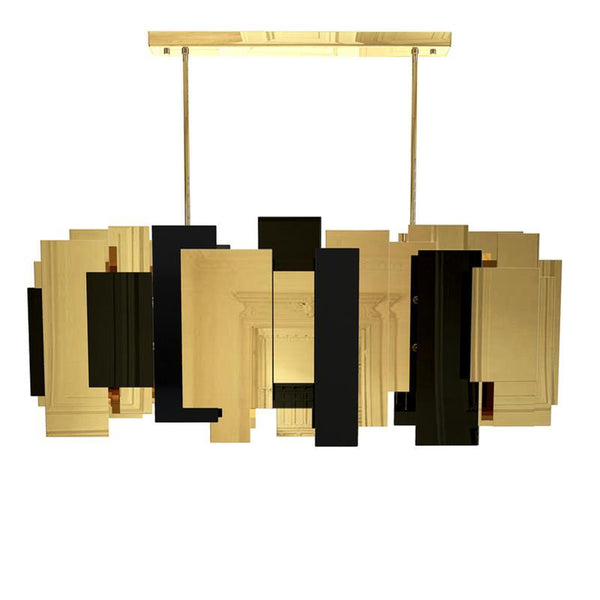 Luxurious Reflective Metal Chandelier - Creative Post-Modern Decorative Lighting at Lifeix Design