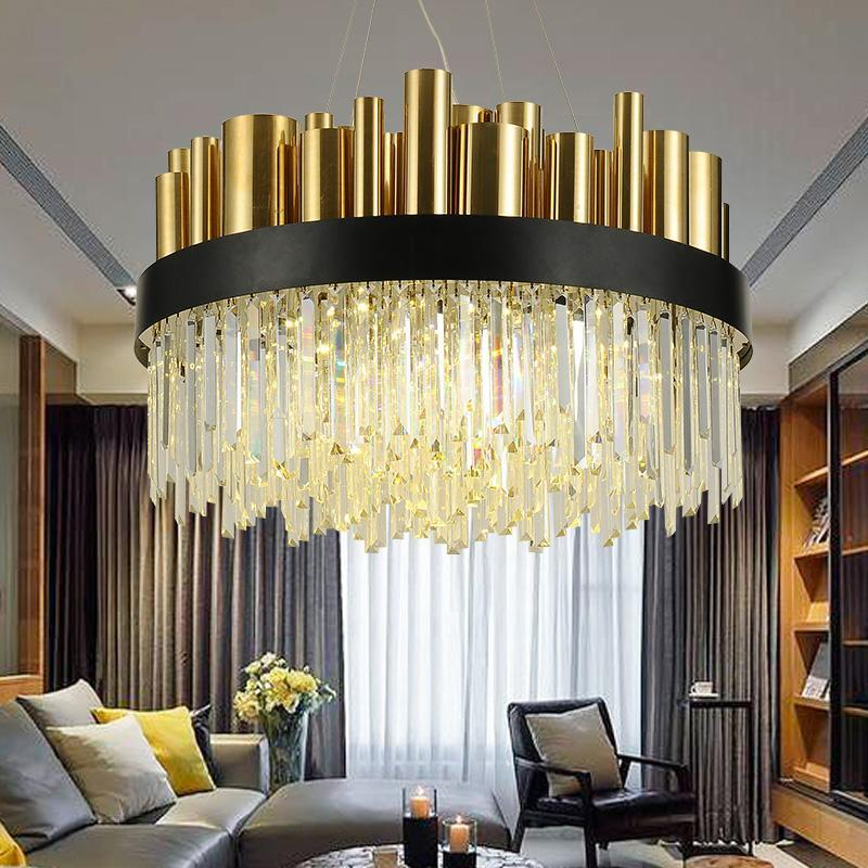 Luxurious Stainless Steel Nordic Chandelier - Simple & Modern Crystal Lights at Lifeix Design