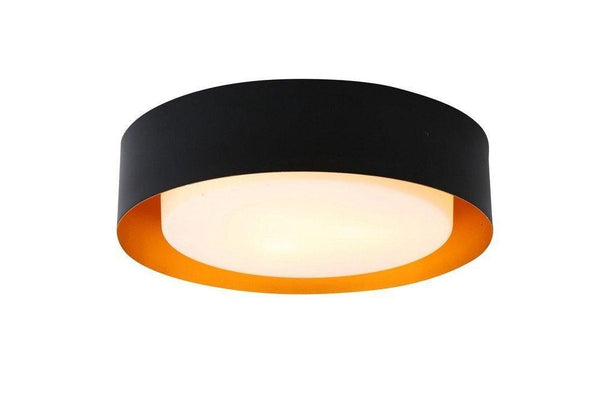 Lighting Lynch Black & Gold Flush Mount Ceiling Light