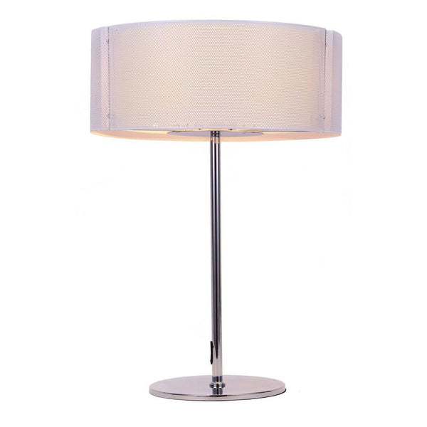 table lamp Lynch Iron Mesh White Table Lamp
