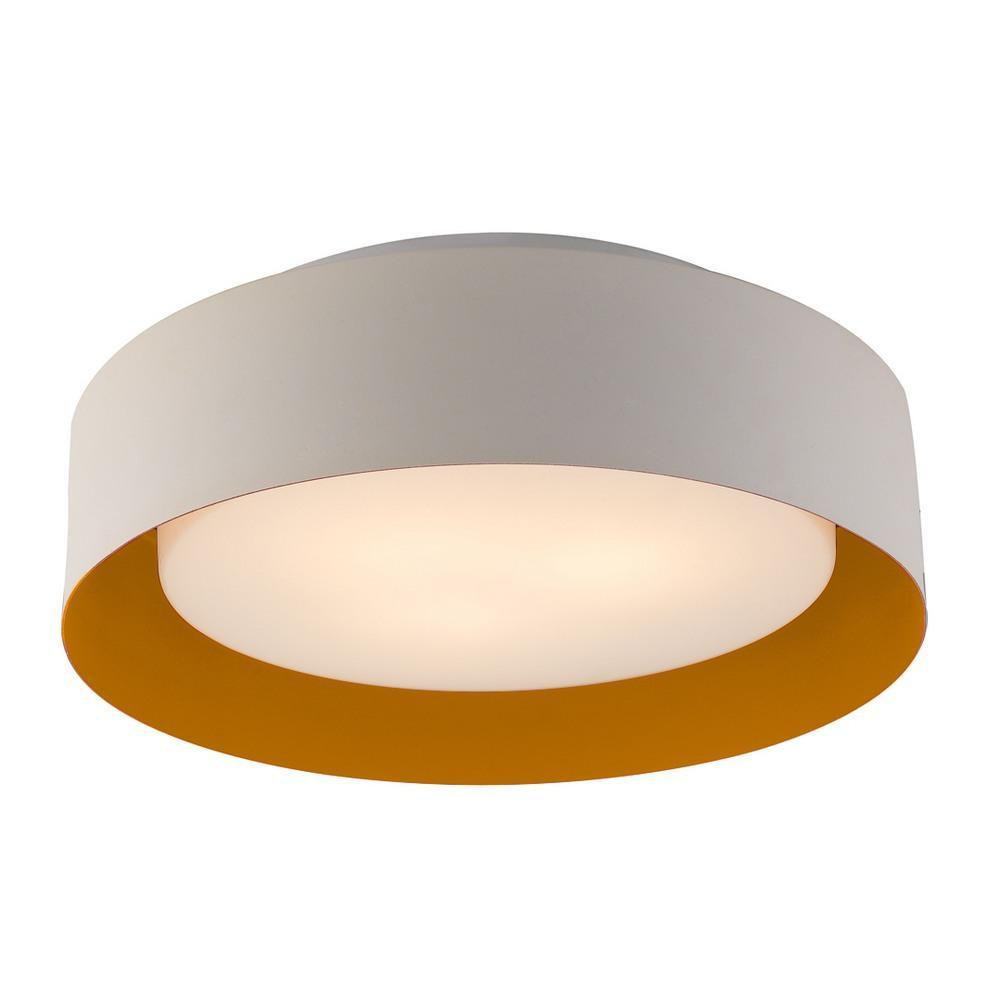 Flush Mount Lynch White & Orange Flush Mount Ceiling Light