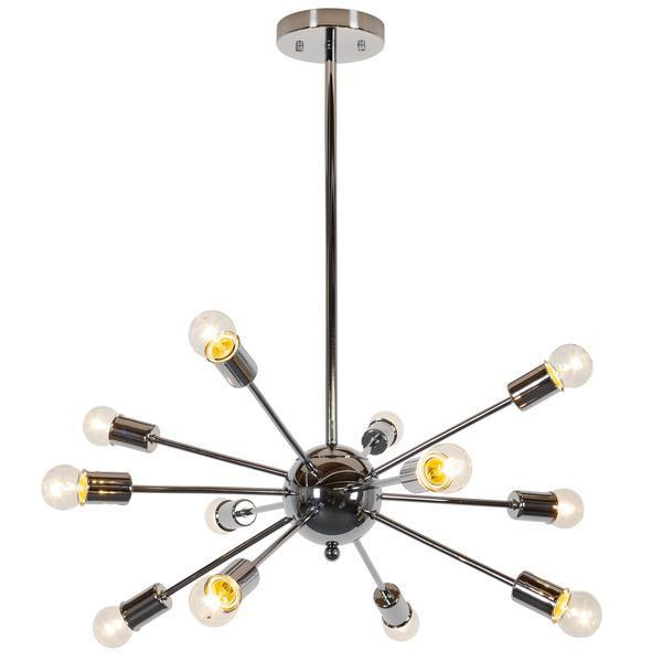 Chandelier Chrome / Single Meridia Sputnik Style Chandelier