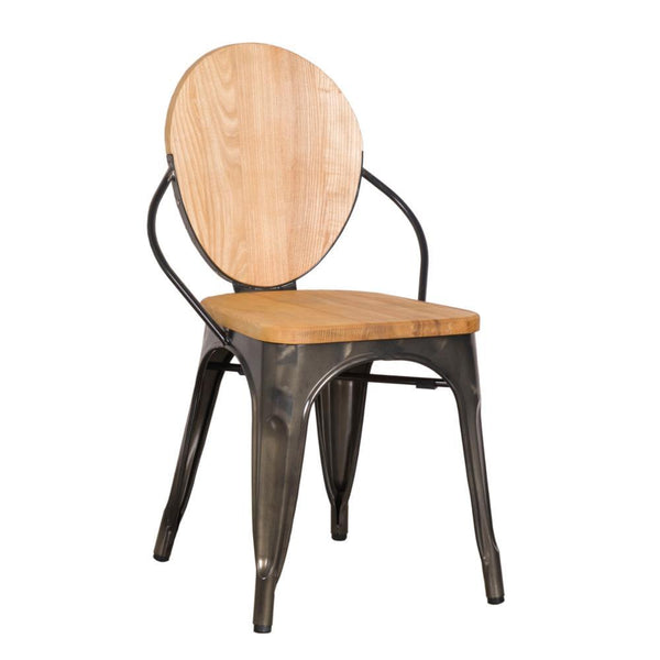 Natural Metal Dining Chair
