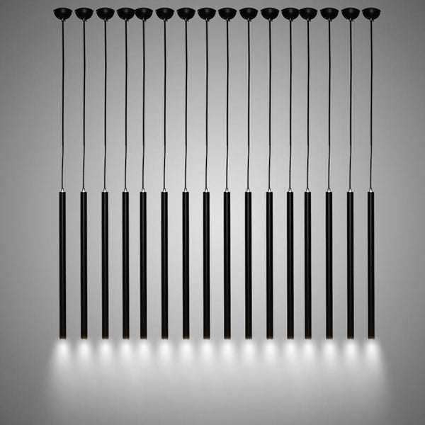 Minimalistic & Modern Aluminum Hanging Light - Cylindric Pipe LED Lighting Fixture at Lifeix Design