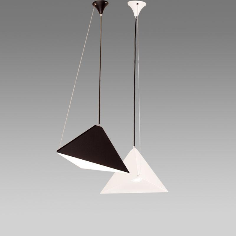 Minimalistic pyramid pendant lights modern style geometric iron chandelier at lifeix design