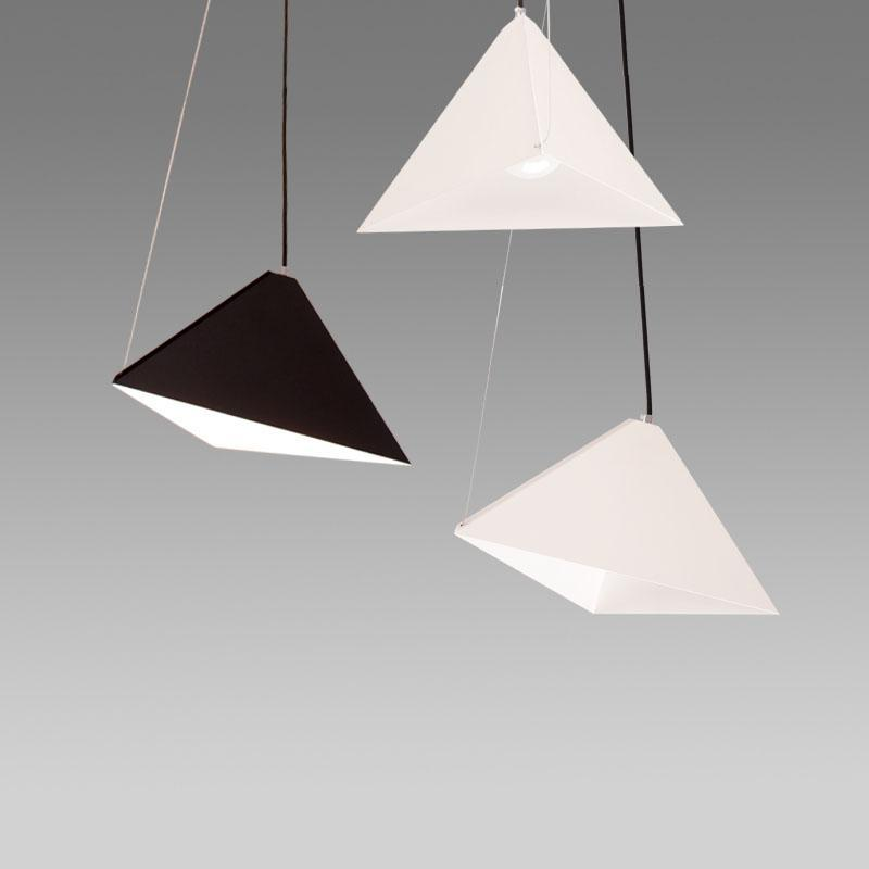Minimalistic Pyramid Pendant Lights - Modern Style Geometric Iron Chandelier at Lifeix Design