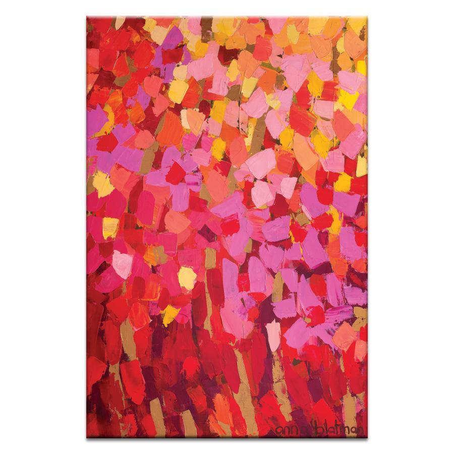 "Artwork 20x30x1.5"" Mixed Pinks Artwork by Anna Blatman"