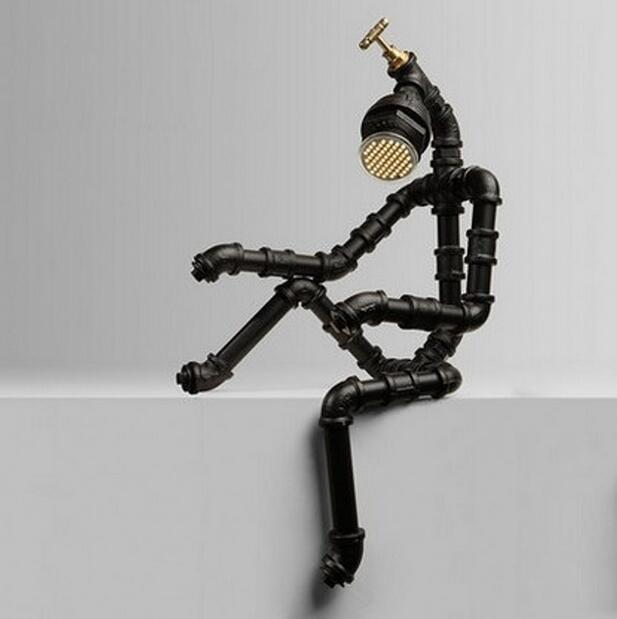 Modern Art Water Pipe Reading Lamp - Personalized Pipe Robot Lamp at Lifeix Design