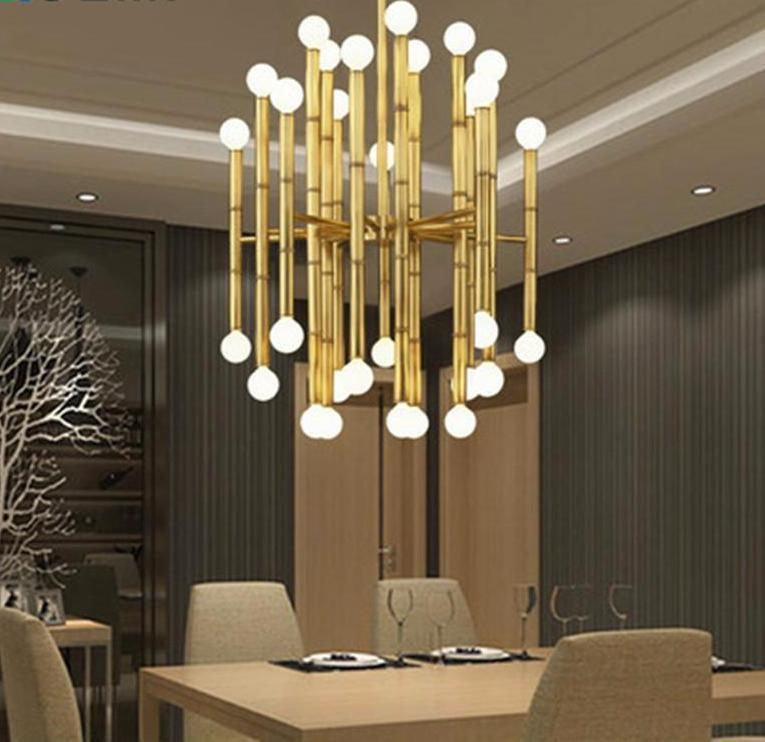 Buy bamboo droplight modern chandelier bronze colored designer modern bamboo droplight metal pendant light at lifeix design mozeypictures Gallery