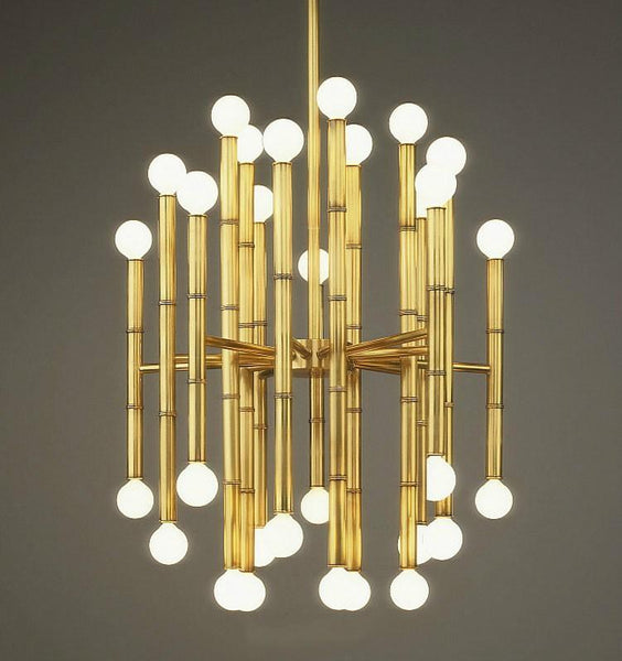 Modern Bamboo Droplight Metal Pendant Light at Lifeix Design