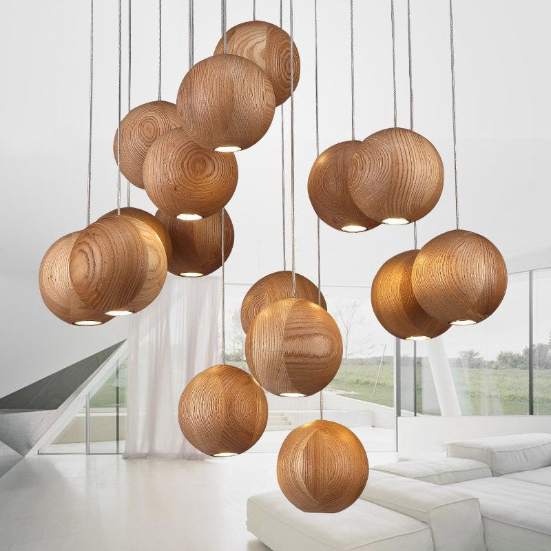 Modern Chinese Wooden Lamp