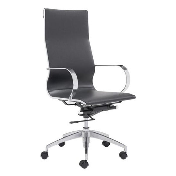 Black Modern Conference Office Chair High Back