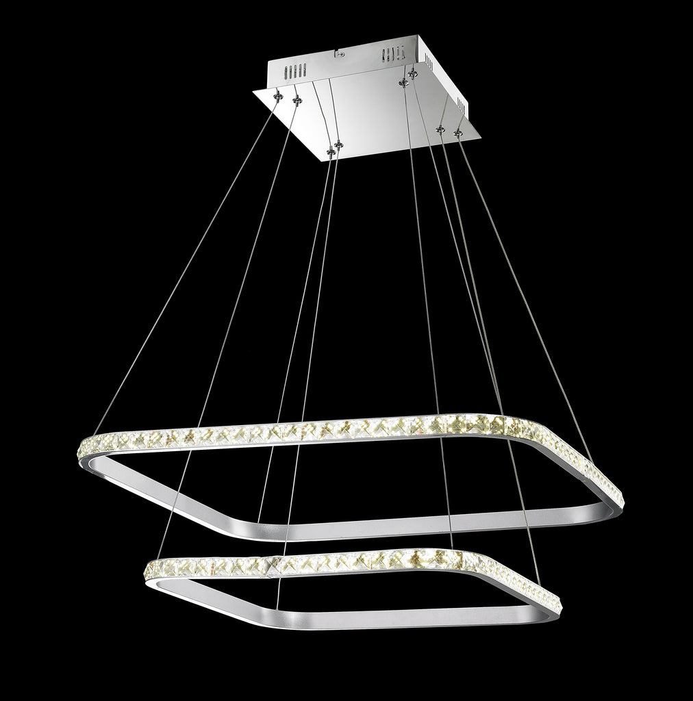 Modern Design- Double Floating Led Crystal Round