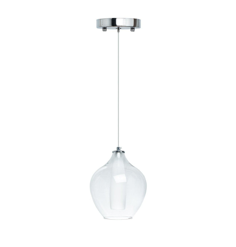 Clear Glass Modern Glass Duo Tone LED Chandelier- Large