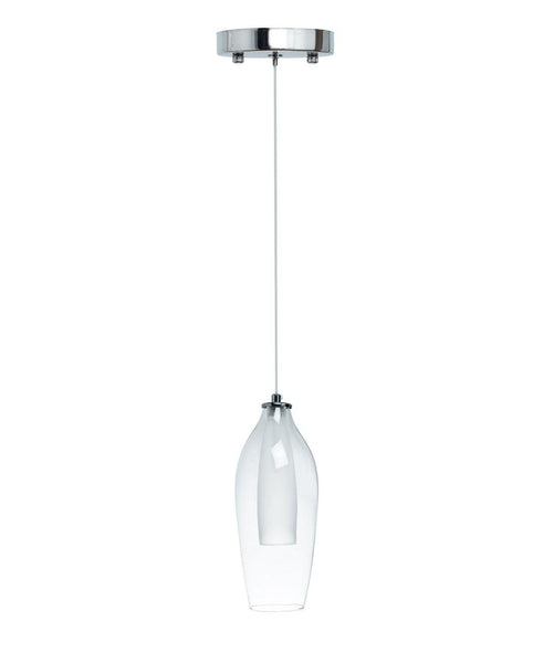 Clear Glass Modern Glass Duo Tone LED Chandelier- Small