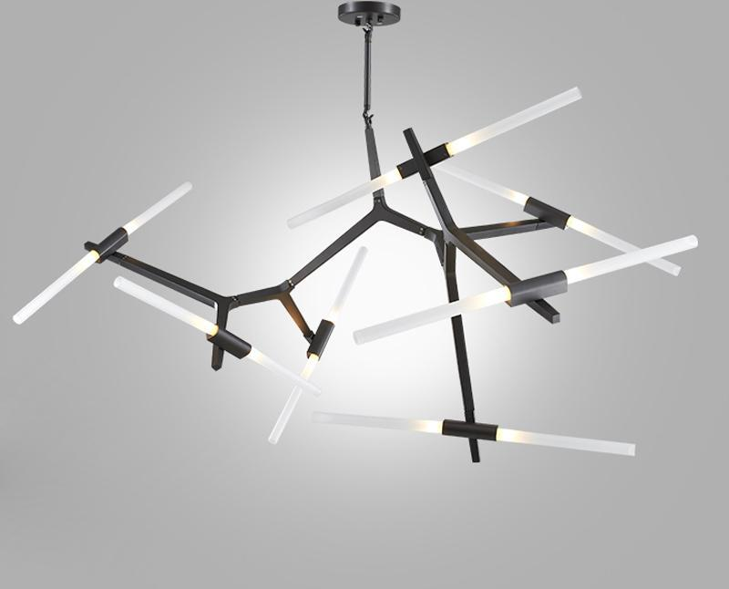 Modern Industrial Sticks Minimalist Pendant Light at Lifeix Design