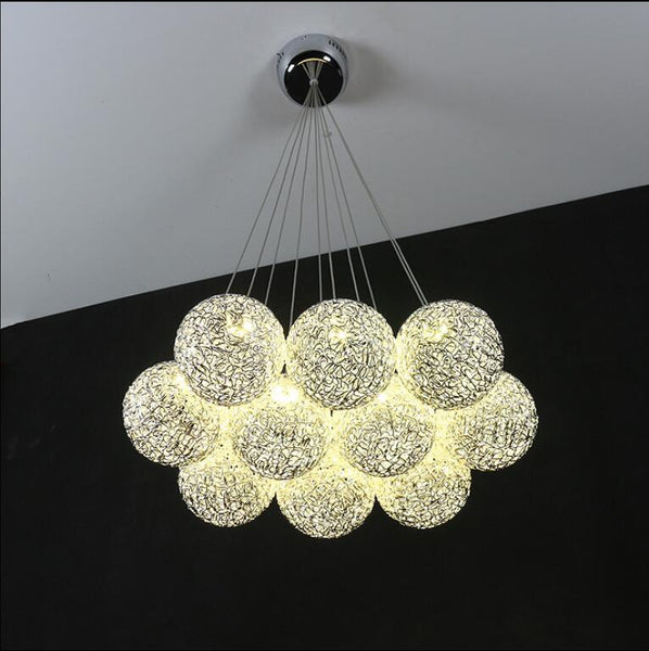 Modern LED Aluminum Ball Chandelier at Lifeix Design
