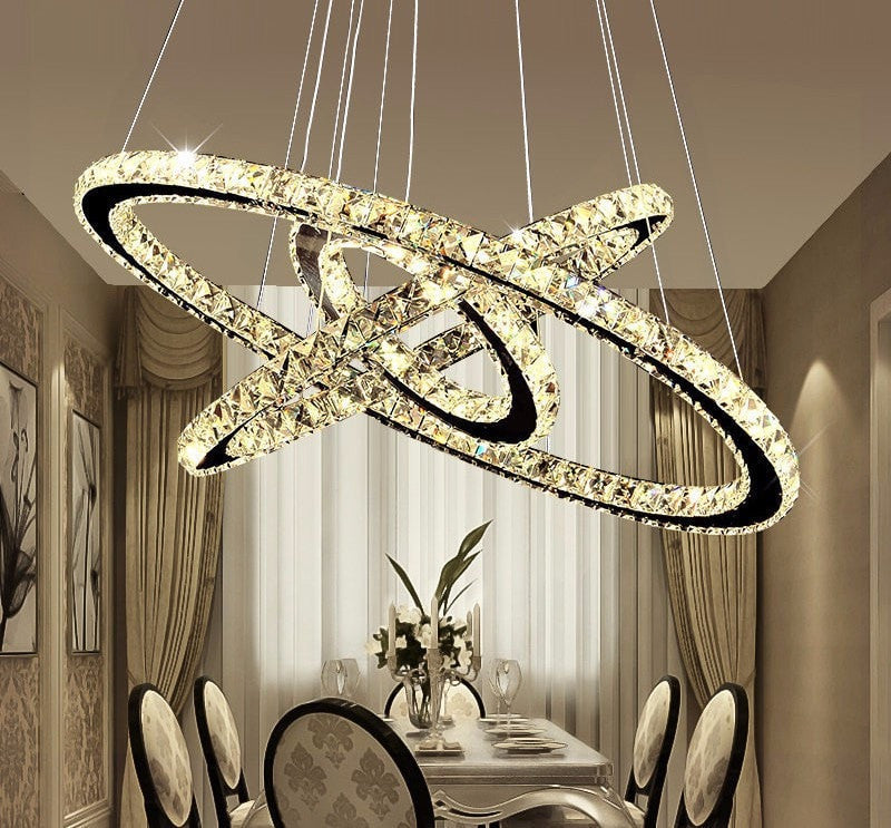 Modern LED Crystal Chandelier Lights Lamp